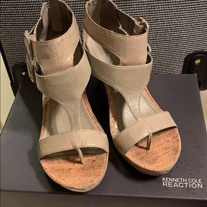 Taupe/olive-ish green sandals
